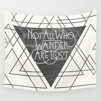 wander Wall Tapestries featuring Wander by Crystal Manning