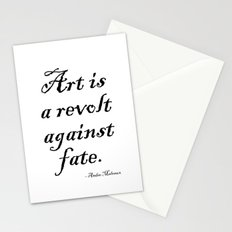 Art is a Revolt Against Fate Stationery Cards