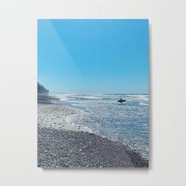 Moonlight Beach Metal Print