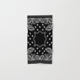 Bandana Black & White Hand & Bath Towel