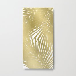 Palms Gold Metal Print