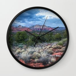Sedona - Cool Vibes in the Desert Landscape in Northern Arizona Wall Clock