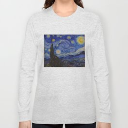 The Starry Night by Vincent van Gogh (1889) Long Sleeve T-shirt