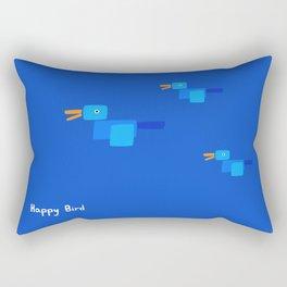 Happy Bird-Blue Rectangular Pillow