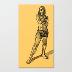 Figure-Crosshatch Canvas Print