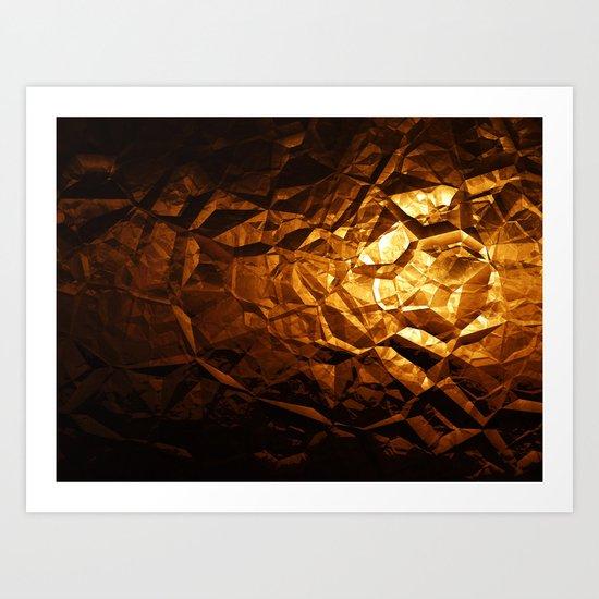 Golden Wrapper Art Print