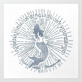 Cambodia Mermaid-Peace, Hope, Prosperity Art Print
