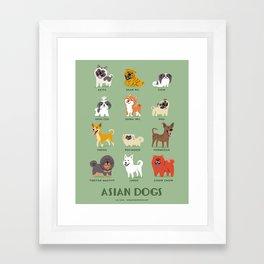 ASIAN DOGS Framed Art Print