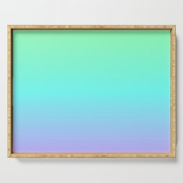 Cool Pastel Gradient Serving Tray