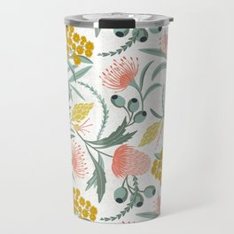 Flora Australis White Travel Mug
