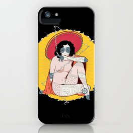 Staring Daggers. iPhone Case