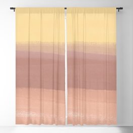 Pastel Earth breeze brush strokes_Abstract Wall Blackout Curtain