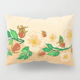 Abstract roses background Pillow Sham
