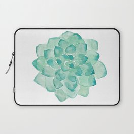 Watercolor Succulent print in seafoam green Laptop Sleeve