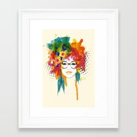 dreamer Framed Art Prints featuring Dreamer by PositIva