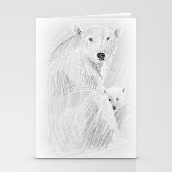 arctic bears Stationery Cards