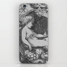 Cherub   Angels Vintage   Victorian   Sketch   Letter B iPhone Skin