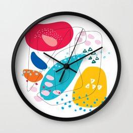Summer abstraction Wall Clock