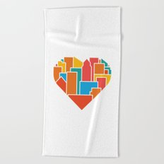 Livin' for the City Beach Towel