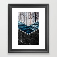 Striped Materials of Nature IV Framed Art Print