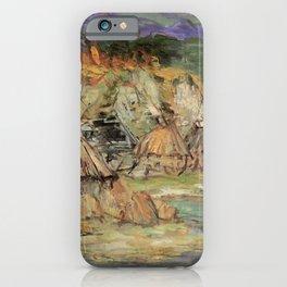 Kida Kinjiro - Fishing Village (1958) iPhone Case