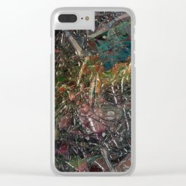 Abstract material shinny surface texture pattern digital illustration concept design graphic style b Clear iPhone Case