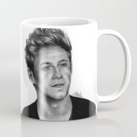 niall horan Mugs featuring Niall Horan Pencil Drawing  by Anna Nilsson