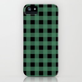 Green Flannel iPhone Case