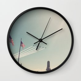 Blue Angel Jets Flying Color Photo Wall Clock