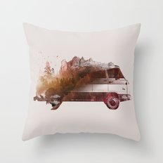 Drive me back home Throw Pillow