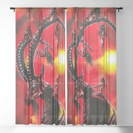 Bitches keep summon me! Sheer Curtain
