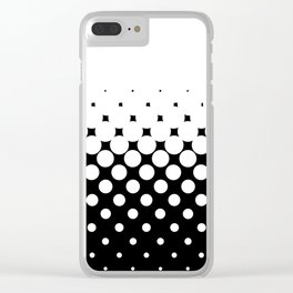 White Holes Clear iPhone Case