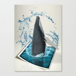 Dancing Whale Canvas Print