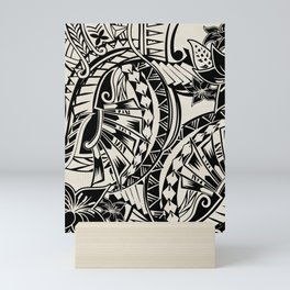 Hawaiian - Samoan - Polynesian Tribal Tattoos Mini Art Print