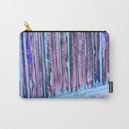 Blue Abstract Fence Carry-All Pouch