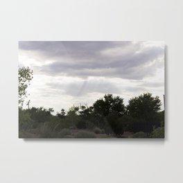 Cloudy Desert Metal Print
