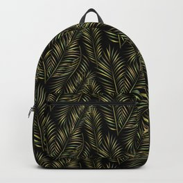 Gold Palm Branches pattern Backpack