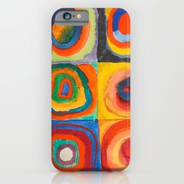 Vintage Vassily Kandinsky Color Study Squares Circles 1913 iPhone Case