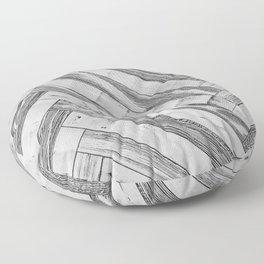 Vintage Diagonal Design //Black and White Wood Accent Decoration Hand Scraped Design Floor Pillow