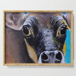 Moon: The Eyes of a Jersey Cow Serving Tray