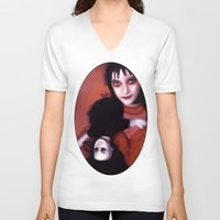 lydia martin V-neck T-shirts featuring Lydia Deetz by Rouble Rust