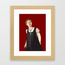 Mary is Plain Framed Art Print