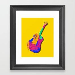 Groovy Guitar Framed Art Print