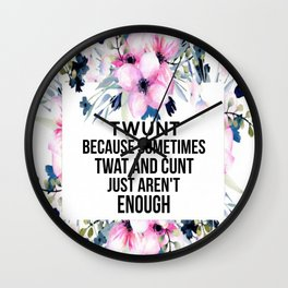 TWUNT Wall Clock