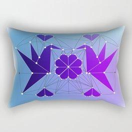 Origami Hummingbirds Rectangular Pillow
