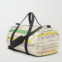 Library Card 3503 Exploring the Moon Duffle Bag