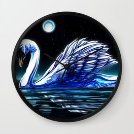 Midnight Swan Lake Wall Clock
