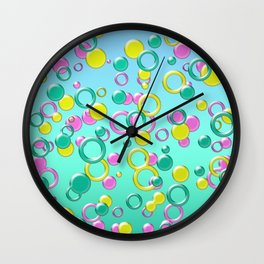 Abstract colorful bubbles 170 Wall Clock