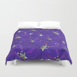Larkspur Love Duvet Cover