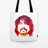 dave grohl Tote Bags featuring D. Grohl by Fimbis